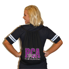 Bling Cinch Bag Featuring River City Allstars Rhinestone Logo