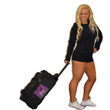 Bling Rolling Duffel Bag Featuring River City Allstars Rhinestone Logo