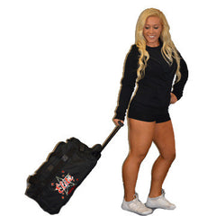 Bling Rolling Duffel Bag Featuring Bayonne PAL Elite Cheer Rhinestone Logo