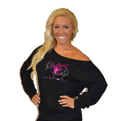 Off the Shoulder Summer Slouchy Featuring Brittany's Elite Stars Rhinestone Logo