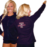 Fleece Jacket Featuring Turners Rhinestone Logo on Back