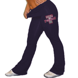 Foldover Yoga Pants Featuring Turners Rhinestone Logo