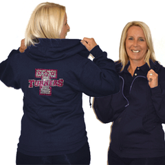 Jerzees Relaxed Fit Hoodie Featuring Turners Rhinestone Logo