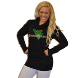 Boyfriend Style Longer Length Hoodie Featuring Waubonsie Valley Dance Logo