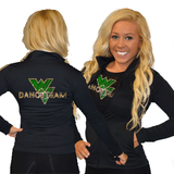Cadet Jacket Featuring Waubonsie Valley Dance Rhinestone Logo