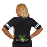 Bling Cinch Bag Featuring Waubonsie Valley Dance Rhinestone Logo