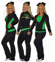 Flex Fit Warmup Jacket Featuring Rhinestone Waubonsie Valley Dance Logo