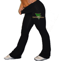 Foldover Yoga Pants Featuring Waubonsie Valley Dance Rhinestone Logo