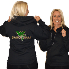 Jerzees Relaxed Fit Hoodie Featuring Waubonsie Valley Dance Rhinestone Logo