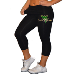 Leggings Featuring Waubonsie Valley Dance Rhinestone Logo