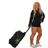 Bling Rolling Duffel Bag Featuring Waubonsie Valley Dance Rhinestone Logo