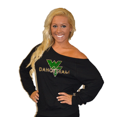 Off the Shoulder Summer Slouchy Featuring Waubonsie Valley Dance Rhinestone Logo