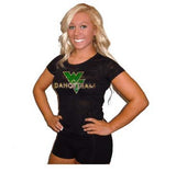 Burnout Tshirt Featuring Waubonsie Valley Dance Rhinestone Logo