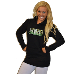 Boyfriend Style Longer Length Hoodie Featuring WNHS Cheerleader Logo