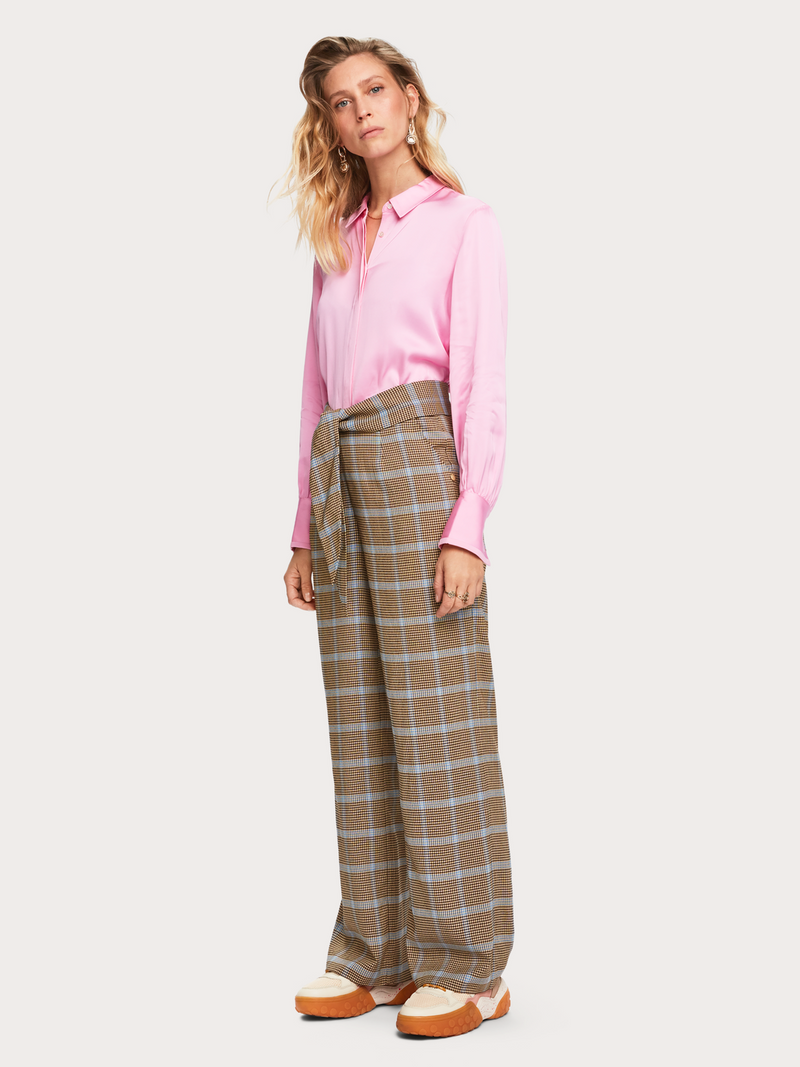Wide Leg Pants in Seersucker