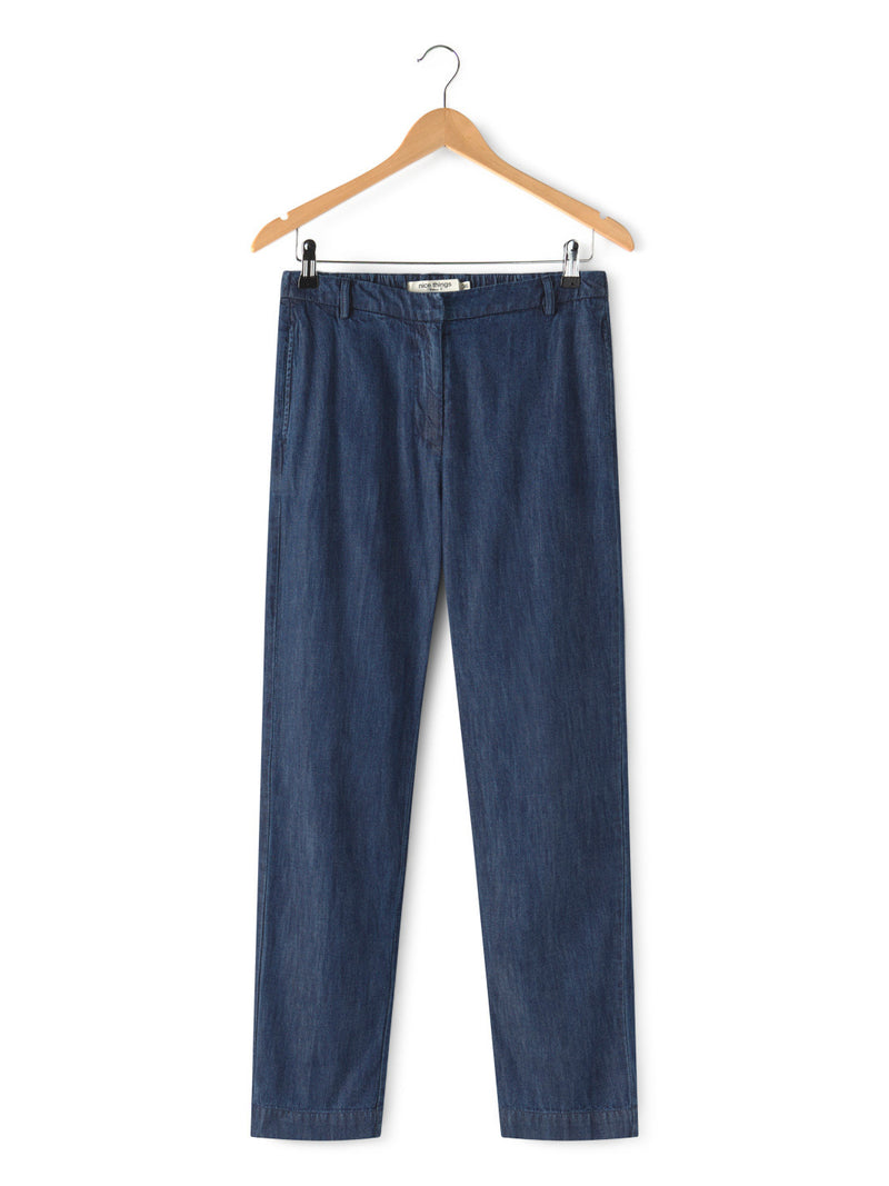 Denim Straight Pant