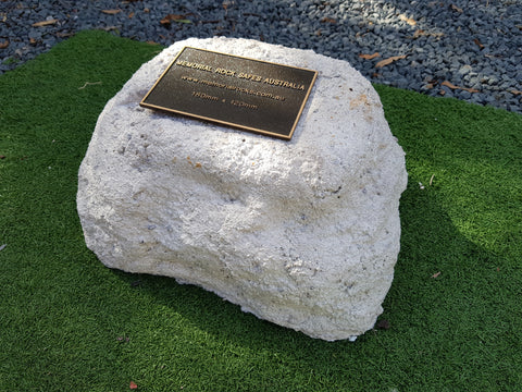 Medium Memorial Rock Urn 959 with plaque option