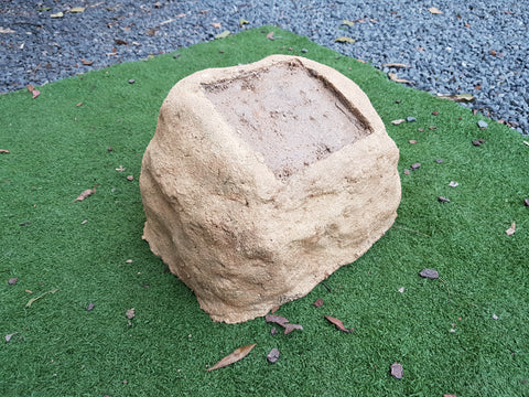 Medium Memorial Rock Urn 969 with plaque option 190mm x 190mm