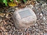 Large Memorial Rock Urn 995 with indent