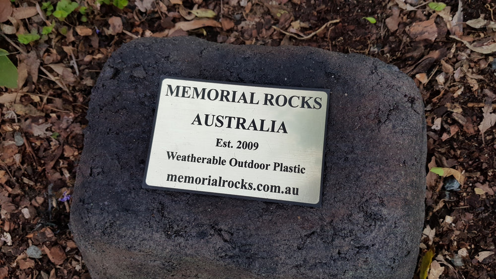 Medium Memorial Rock Urn 1081 Black