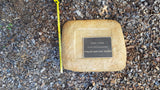 Memorial Paver 1089 (Not an Urn) including 250 mm x 200 mm Bronze Plaque