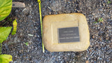 Memorial Paver 1090 (Not an Urn) including 250 mm x 200 mm Bronze Plaque