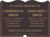 Quality Bronze Cut-Out Book Plaque for two names 220mm x 150mm