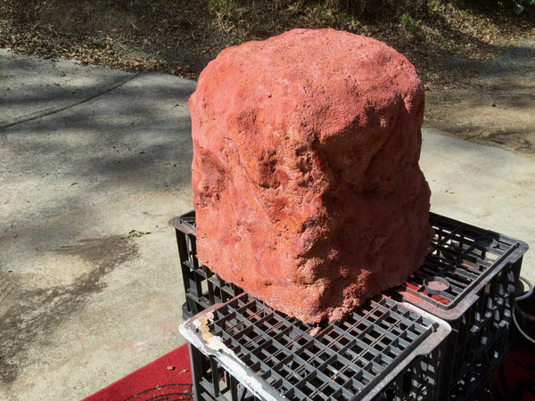 Novelty Memorial Rock Urn 821 with optional glass window.
