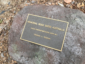 Memorial Rock Urn 853 Small-Single. Burleigh Volcanic Black Series SSBL