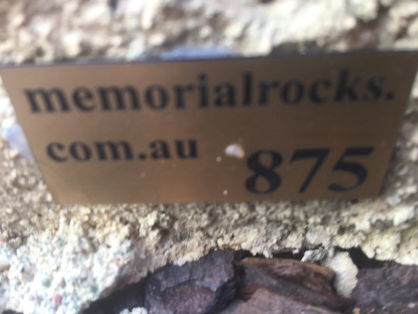 Memorial Rock Urn 875 Small-Single. Sandstone Gold Series SSSAN