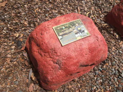 Memorial Rock Urn 912 Medium-Double  Outback Red Series. MDRED