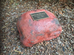 Large Memorial Rock Urn 939 with plaque option