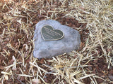 Paver - Memorial Heart Shaped Paver Stone 617 (Not an Urn) including 200mm x 150mm Bronze Plaque
