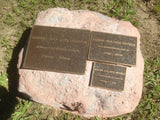 Quality Bronze Plaque Size 150mm x 100mm