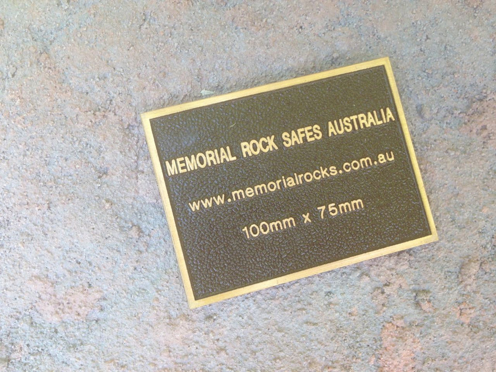 Quality Bronze Plaque Size 100mm x 75mm
