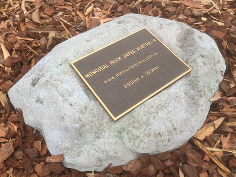 Paver - Memorial Paver Stone 638 (Not an Urn) including 200mm x 150mm Bronze Plaque