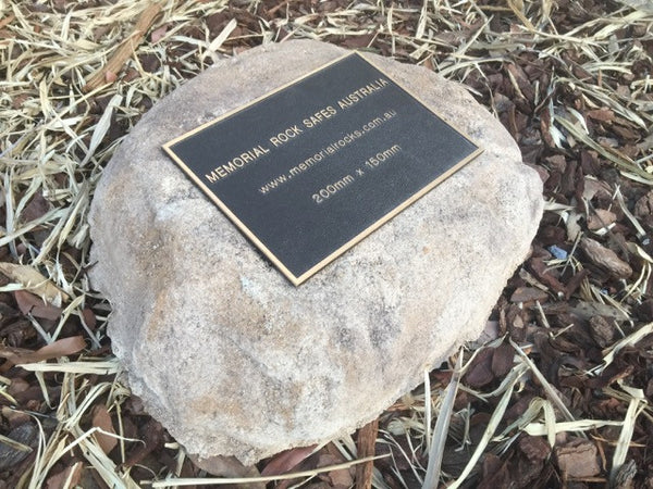 Paver - Memorial Paver Stone 641 (Not an Urn) including 200mm x 150mm Bronze Plaque
