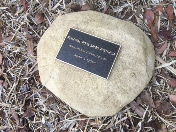 Paver - Memorial Paver Stone 732 (Not an Urn). Sandstone/ Gold. (plaque sold separately)