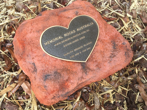 Memorial Paver Stone 759 (Not an Urn) Outback Red Series (not including plaque)