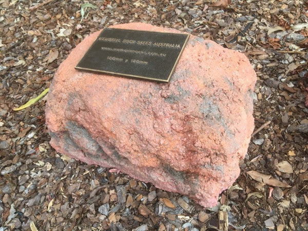 Memorial Rock Urn 768  Small-Single. Outback Red Series SSRED