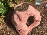 Novelty Memorial Rock Urn 778 with optional glass window