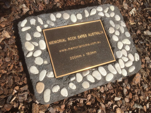 Novelty Memorial Paver Stone 782 (Not an Urn) Including 200mm x 150mm Bronze Plaque