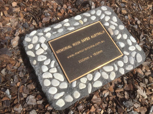 Novelty Memorial Paver Stone 783 (Not an Urn) Includes a quality 200mm x 150mm x4.5mm Bronze plaque