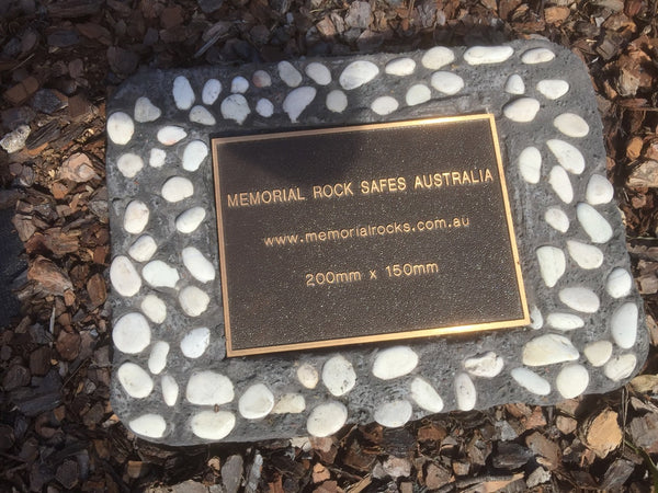 Novelty Memorial Paver Stone 784 (Not an Urn) Includes a quality 200mm x 150mm x4.5mm Bronze plaque