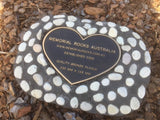 Novelty Memorial Paver Stone 786 (Not an Urn) Includes a quality 200mm x 148mm x 4.5mm Bronze Heart Plaque