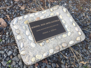 Memorial Paver 792 (Not an Urn) including 180mm x 120mm Bronze Plaque