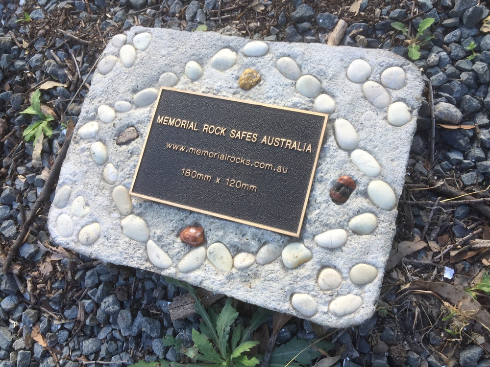 Novelty Memorial Paver Stone 794 (Not an Urn) including 180mm x 120mm Bronze Plaque