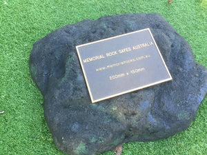 Paver - Memorial Paver Stone 593 (Not an Urn) including 200mm x 150mm Bronze Plaque