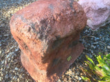 Memorial Rock Urn 807 Medium-Single, Tall Novelty.( Optional glass window)  Outback Red Series