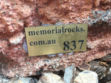Memorial Rock Urn 837 Small-Single. Outback Red Series SSRED